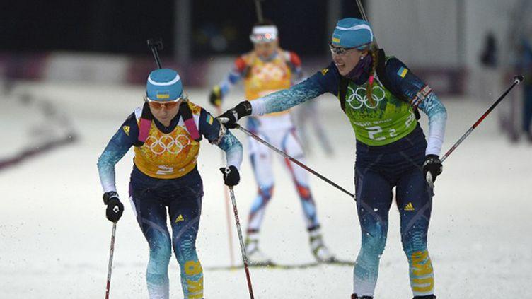 L'Ukraine première du relais féminin (PIERRE-PHILIPPE MARCOU / AFP)