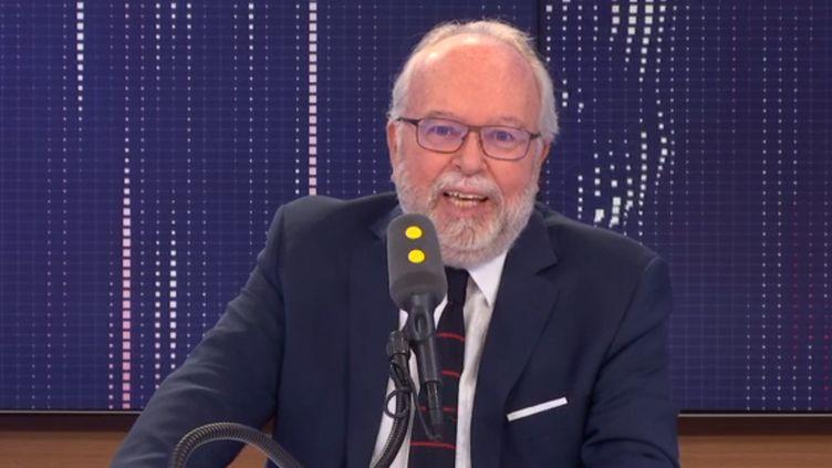 Wallerand de Saint-Just, trésorier du Rassemblement national et conseiller régional d'Île-de-France, est l'invité de franceinfo le mercredi 31 juillet 2019 (FRANCEINFO / RADIOFRANCE)