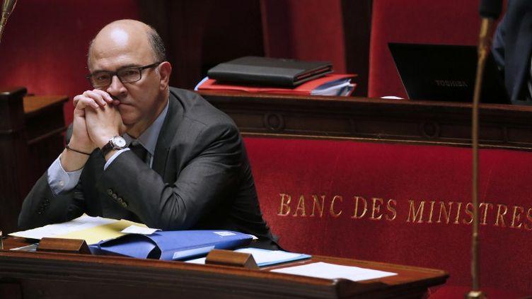 Le ministre de l'Economie et des Finances, Pierre Moscovici, le 22 octobre 2013 à l'Assemblée nationale. (PATRICK KOVARIK / AFP)