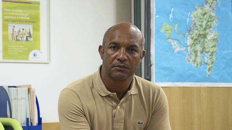 Le président de la collectivité de Saint-Martin, Daniel Gibbs. (HELENE VALENZUELA / AFP)