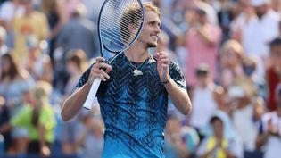 Alexander Zverev lors du Masters 1000 de Cincinnati. (DYLAN BUELL / GETTY IMAGES NORTH AMERICA / AFP)