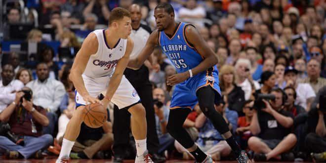 Blake Griffin face à Kevin Durant