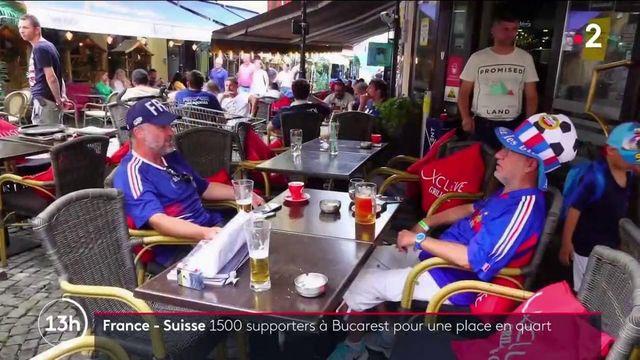 Euro de football : 1 500 supporters à Bucarest pour le match France-Suisse