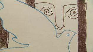 Détail d'une oeuvre de Picasso exposée à Tourcoing (S. Gurak France 3 Nord Pas de Calais)