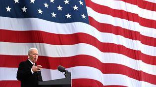 Discours de Joe Biden, 46e Président des Etats-Unis à New Castle (USA), le 19 janvier 2021. (JIM WATSON / AFP)