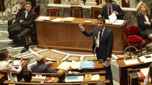 Le Premier ministre, Manuel Valls, le 29 avril 2014 à l'Assemblée nationale. (ERIC FEFERBERG / AFP)
