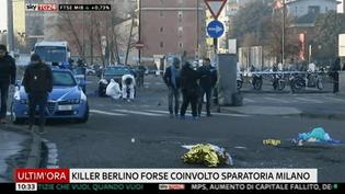 Anis Amri a été abattu à Milan, le 23 décembre 2016. (SKY ITALIA)