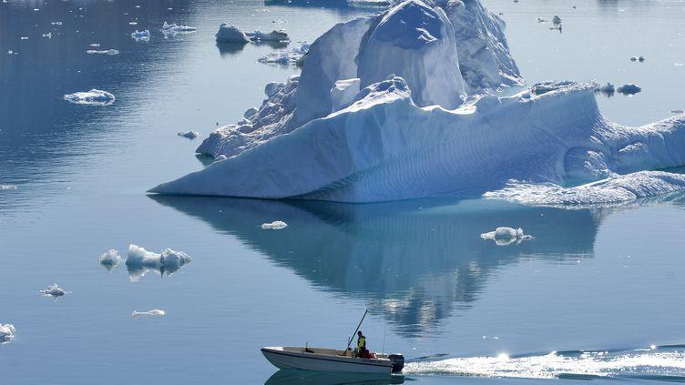 La calotte glacière du Groenland a fondu de manière exceptionnelle au mois de juillet. (AFP)