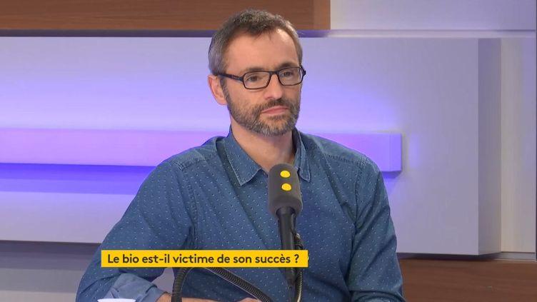 Charles Pernin (Synabio), invité de L'interview éco, le 8 février 2019. (FRANCEINFO / RADIOFRANCE)