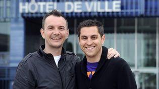 Vincent Autin (à gauche) et Bruno Boileau (à droite), le 18 mai 2013. (PASCAL GUYOT / AFP)