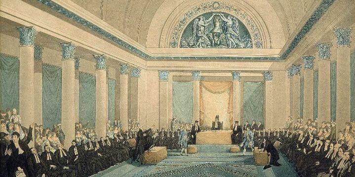 Réunion du Grand Sanhedrin (Cour suprême composée des grands rabbins et des représentants de la communauté juive) à Paris, le 9 février 1807 (AFP/ The art archive/ Gianni Dagli Orti)