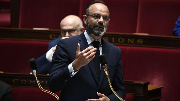 Edouard Philippe lors des questions au gouvernement, à l'Assemblée nationale, le 16 juin 2020. (STEPHANE DE SAKUTIN / AFP)