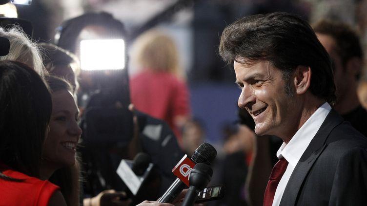 L'acteur Charlie Sheen interviewé à Culver City, en Californie, le 10 septembre 2011. (MARIO ANZUONI / REUTERS)