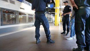 Un contrôle d'identité, à Metz (Moselle), le 20 juillet 2015. (MAXPPP)
