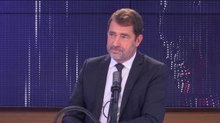 Christophe Castaner, président du groupe La République en marche à l'Assemblée nationale, le 22 septembre 2021 sur franceinfo. (FRANCEINFO / RADIO FRANCE)