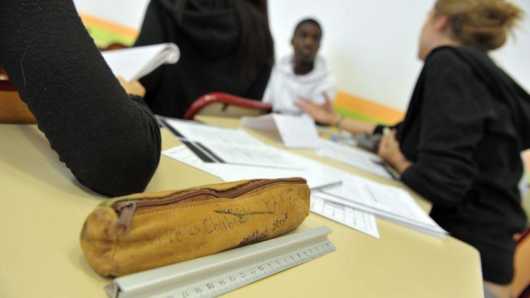 Des lycées français en classe (photo d'illustration). (CHRISTOPHE PETIT TESSON / MAXPPP)