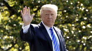 Donald Trump, le 17 mai 2017 à Washington, aux Etats-Unis. (OLIVIER DOULIERY / AFP)