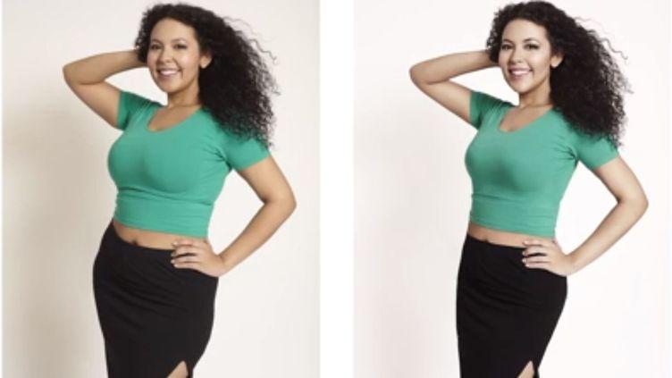 Le site Buzzfeed a fait poser quatre Américaines devant un photographe de mode, avant de faire retoucher leurs clichés. (BUZZFEED)