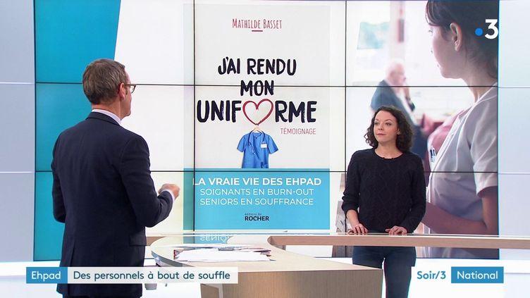Mathilde Basset, ex-infirmière en Ehpad et son livre (France 3)