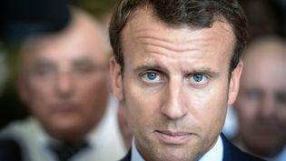 Le ministre de l'Economie, Emmanuel Macron, pendant sa visite à Colmar (Haut-Rhin), le 30 août 2016. (SEBASTIEN BOZON / AFP)