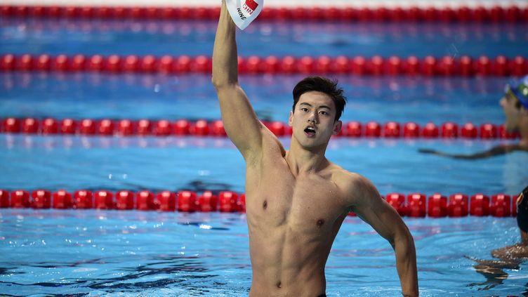 Ning Zetao, nouveau champion du monde du 100m nage libre (MARTIN BUREAU / AFP)