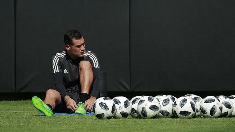 Rafa Marquez, joueur de football de l'équipe méxicaine à l'entrainement à Mexico, le 27 mai 2018. (MAXPPP)