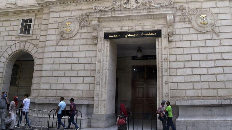Tribunal de Sidi M'hamed, Alger, le 3 août 2020. (RYAD KRAMDI / AFP)