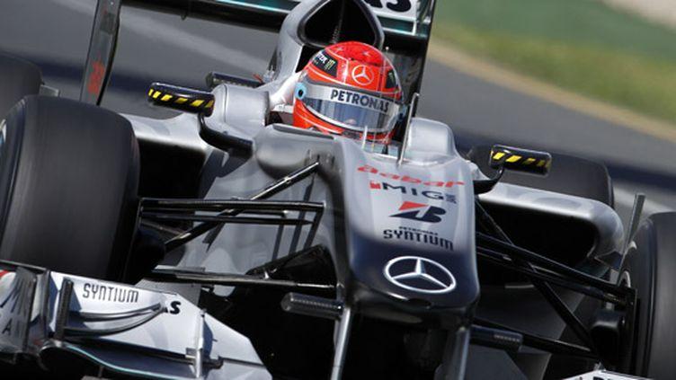 Michael Schumacher au volant de la Mercedes