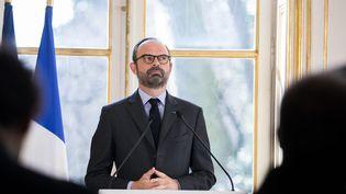 Présentation à Matignon de la méthode et du calendrier de la réforme de la SNCF par Edouard Philippe. (MAXPPP)