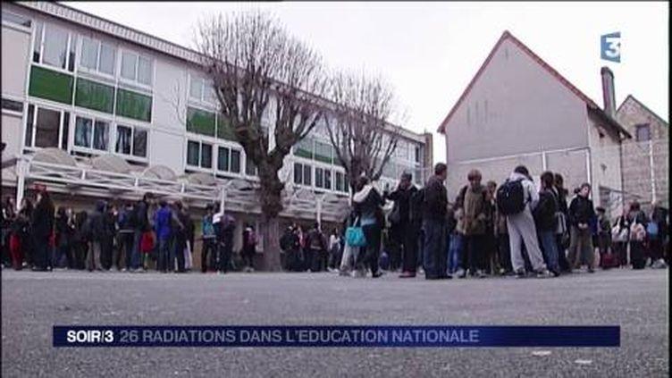 L'Éducation nationale a radié 26 personnes. (FRANCE 3)