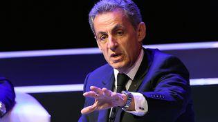 Nicolas Sarkozyà Mexico (Mexique), le 1er septembre 2017. (ALFREDO ESTRELLA / AFP)