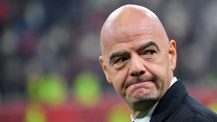Gianni Infantino, président de la Fifa, est à l'origine de soupçons de collusion entre le ministère public suisse et la Fédération internationale (GIUSEPPE CACACE / AFP)