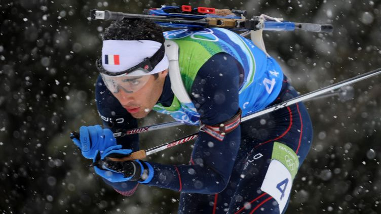 Martin Fourcade avait terminé deuxième aux JO de Vancouver en 2010. (ALBERTO PIZZOLI / AFP)