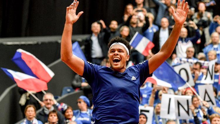 En septembre 2017, Jo-Willfried Tsonga et la France avaient éliminé la Serbie sur terre battue au stade Pierre-Mauroy de Villeneuve-d'Ascq (Nord). (PHILIPPE HUGUEN / AFP)