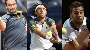 Trois joueurs participant au premier tour de Roland-Garros : Ernests Gulbis, Marcos Baghdatis et Benoît Paire. (REUTERS)