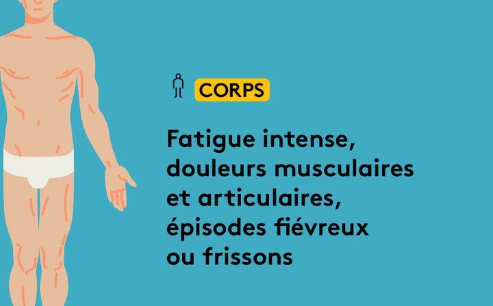 """Les effets du """"Covid long"""" sur le corps. (JESSICA KOMGUEN / FRANCEINFO)"""