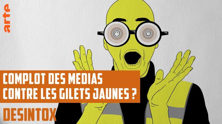 Désintox. Non, les médias n'ont pas manipulé les chiffres de manifestations des gilets jaunes (ARTE/LIBÉRATION/2P2L)