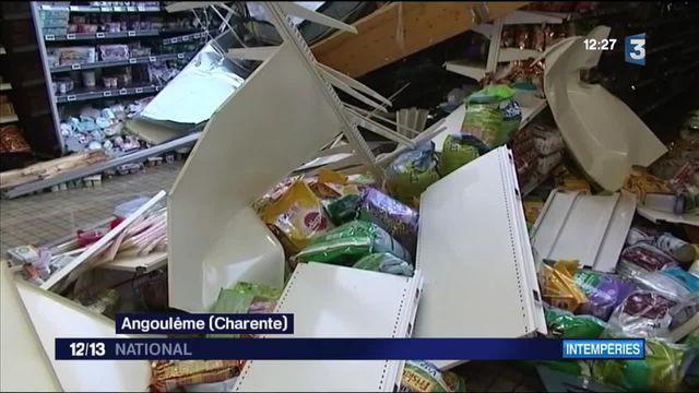 Angoulême : le toit d'un supermarché s'effondre