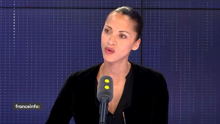 Noémie Lenoir invitée de franceinfo le 10 avril 2019 (FRANCEINFO / RADIOFRANCE)