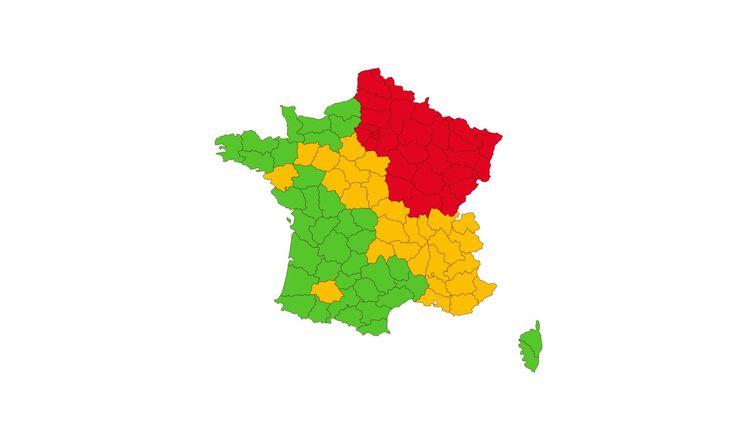 La carte de France du déconfinement, au 1er mai. (FRANCEINFO)