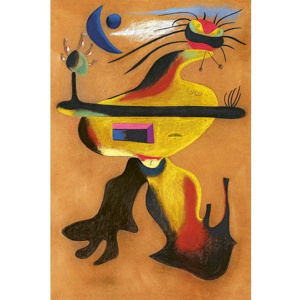 """Joan Miró, """"Femme"""", 1934, pastel sur papier velours, collection particulière  (Successió Miró / Adagp, Paris, 2018 Photo collection particulière / Peter Schälchli, Zürich)"""