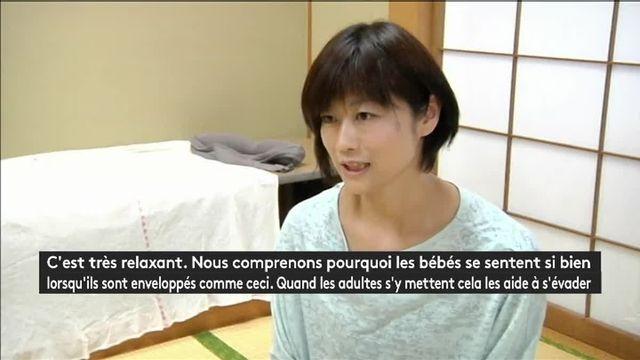 L'Otonamaki, ou l'emballage, une nouvelle thérapie en vogue au Japon
