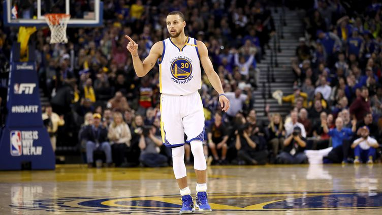 Le joueur de Golden State, Stephen Curry (EZRA SHAW / GETTY IMAGES NORTH AMERICA)