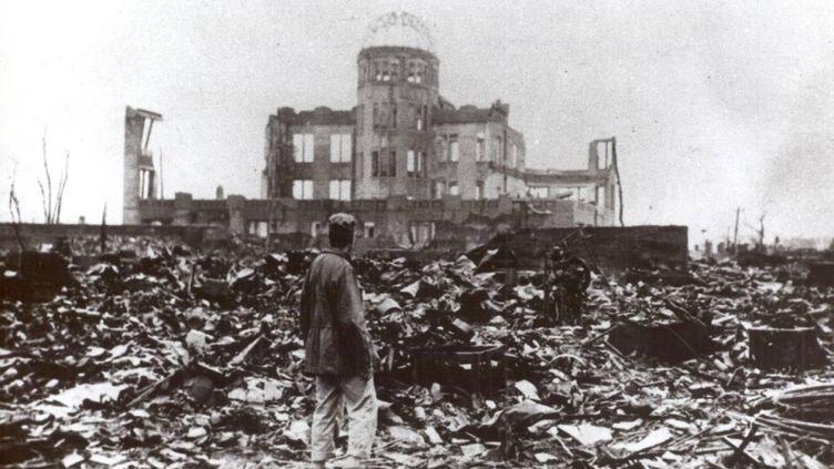 Hiroshima rasée par une bombe nucléaire, le 6 août 1945. (© BAND PHOTO / UPPA.CO.UK / MAXPPP)