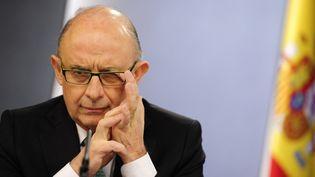 Le ministre du Trésor espagnol, Cristobal Montoro Romero, à Madrid (Espagne)le 30 mars 2012. (JAVIER SORIANO / AFP)