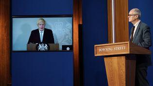 Le Premier ministre britannique, Boris Johnson, le 19 juillet 2021. (ALBERTO PEZZALI / AFP)