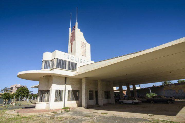 La station-service du bâtiment Fiat Tagliero à Asmara (MICHAEL RUNKEL /  ROBERTHARDING / AFP)