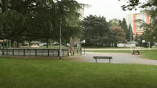 Quartier Saragosse, à Pau (Pyrénées-Atlantiques), où un homme de 32 ans a été battu à mort par un groupe d'adolescents, vendredi 18 mai 2018. (FRANCE 3)