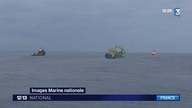 """Dérive du """"Modern Express"""" : le cargo ne menace plus les côtes françaises"""