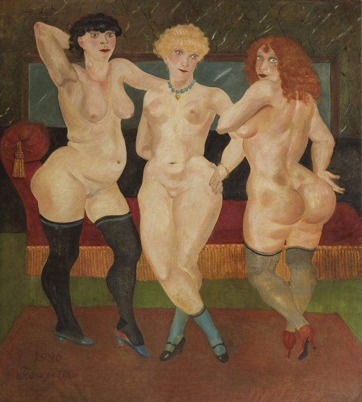 Foujita. Les Trois Femmes, 1930, huile sur toile. Collection Maison-atelier Foujita, conseil départemental de l'Essonne. (Fondation Foujita Adagp, Paris / LAURENCE GODART)